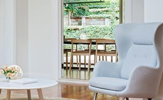 Harmonious living room armchair