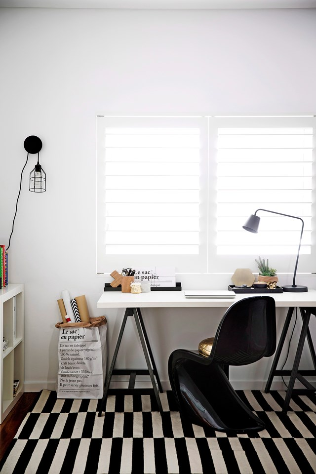 "Create more room to work on by organising and decluttering the space you already have. Get more [home office style tips from James Treble here](http://www.homestolove.com.au/5-tips-for-the-ultimate-home-office-2025|target=""_blank""). Photo: James Henry / bauersyndication.com.au"