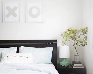 Contemporary and calm bedroom