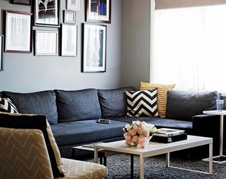 Jet and Joey's stylish Canberra living room