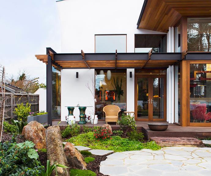 Asian-styled garden entrance