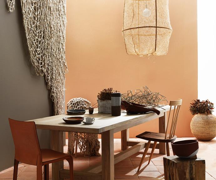 Dining room with neutral tone