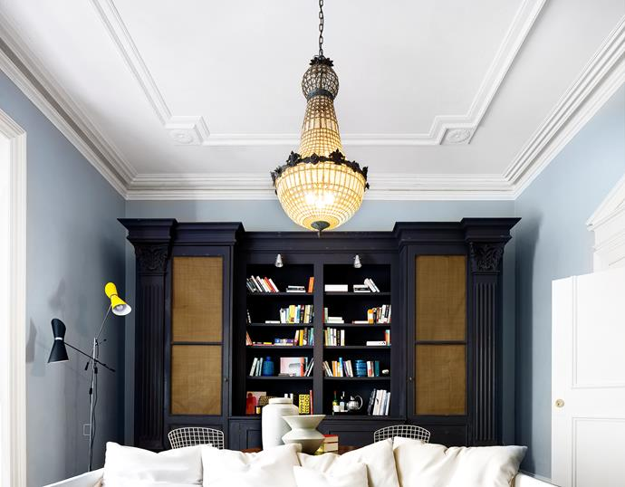 "This gorgeous neo-classical chandelier was salvaged from a French flea market and stands out among the other eclectic pieces in [interior designer Gillian Khaw's home](http://www.homestolove.com.au/interior-style-q-and-a-gillian-khaw-2052/?utm_campaign=supplier/|target=""_blank""). Photo: Justin Alexander."