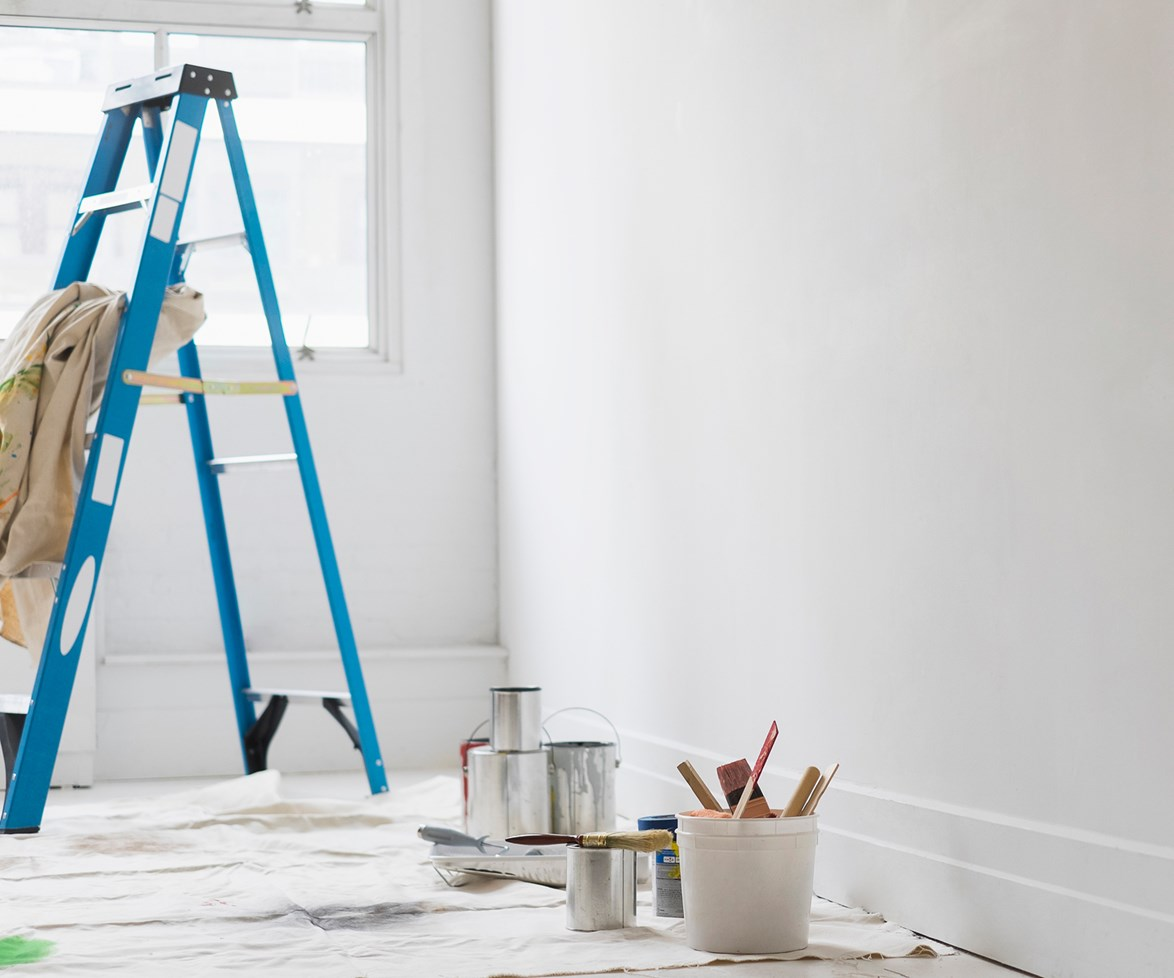 If you need to paint your new home, make sure you do it before you move your furniture in.