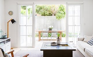 Bright living room in Sydney's Inner West