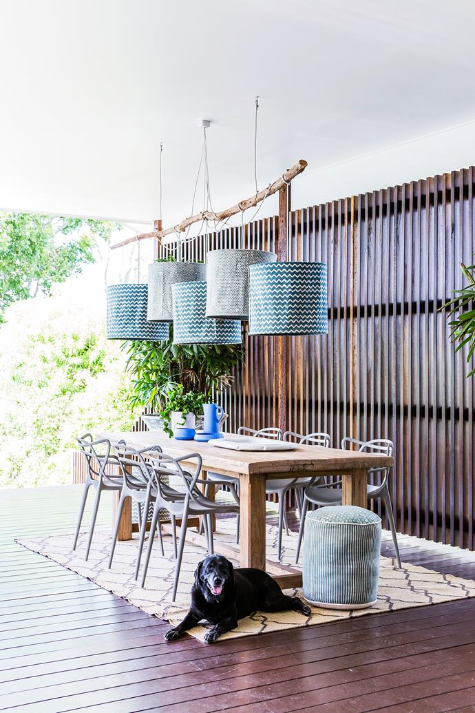 """This black Labrador obviously loves his huge [backyard entertaining zone](http://www.homestolove.com.au/gallery-lori-and-sanjays-relaxed-brisbane-queenslander-1679/
