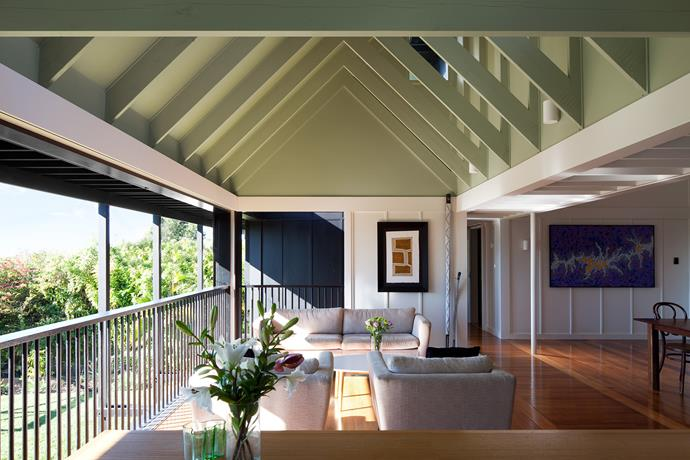 "**Room #21 by [Vokes and Peters](http://www.vokesandpeters.com/|target=""_blank"")** Architects Stuart and Aaron extended this late-1800s Queenslander to the east to capitalise on its panoramic bay aspect. Low eaves act as a sun visor, while full-height sliding windows allow unobstructed views. ""We were inspired by the sleep-out verandah and created a contemporary take on that,"" says Stuart. Photo: Jon Linkins"