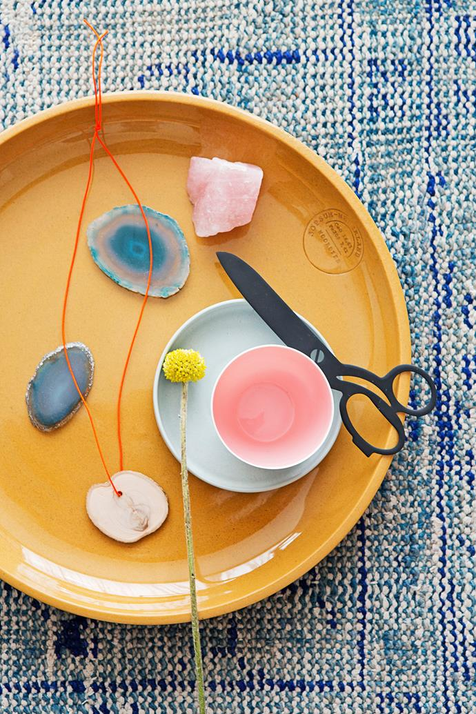 """Christien loves the purity of organic elements and forms, evident throughout her home.   Ceramic **bowl** and porcelain **cup** by Dutch designer [Hella Jongerius](http://www.jongeriuslab.com/?utm_campaign=supplier/ target=""""_blank"""")."""