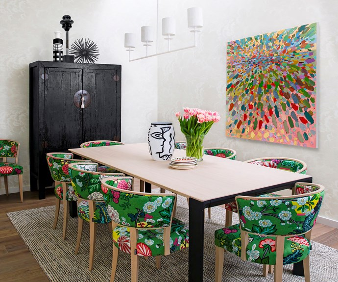 Styled dining room by Stacey Kouros Design