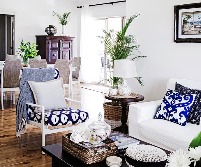 Hampton-style living room in Sydney's South West.