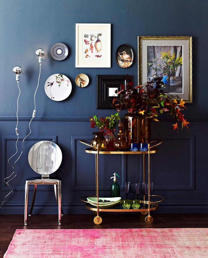 A grid of smaller works can be a cost-effective way to fill a wall instead of one large piece. Photo: John Paul Urizar / bauersyndication.com.au