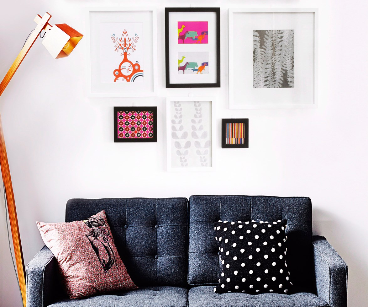 "Artworks can really bring a room together. [Get more tips on how to hang artwork correctly here](http://www.homestolove.com.au/how-to-hang-artwork-2203|target=""_blank""). Photo: Kristina Soljo / bauersyndication.com.au"