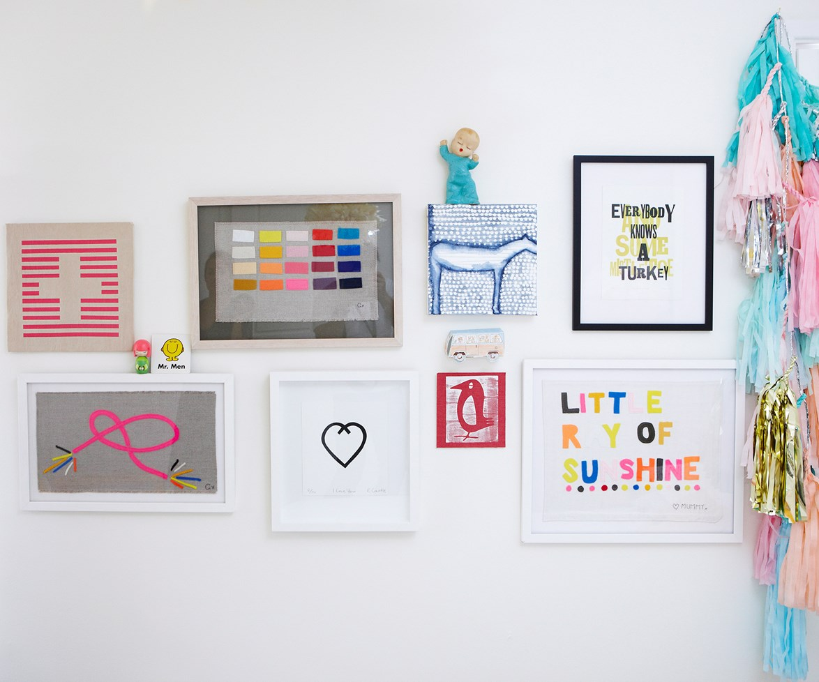 "A gallery wall is a great way to brighten up a room. Click through for [more cool kids bedroom ideas](http://www.homestolove.com.au/kids-bedroom-ideas-2558|target=""_blank""). Photo: Paul Suesse / bauersyndication.com.au"