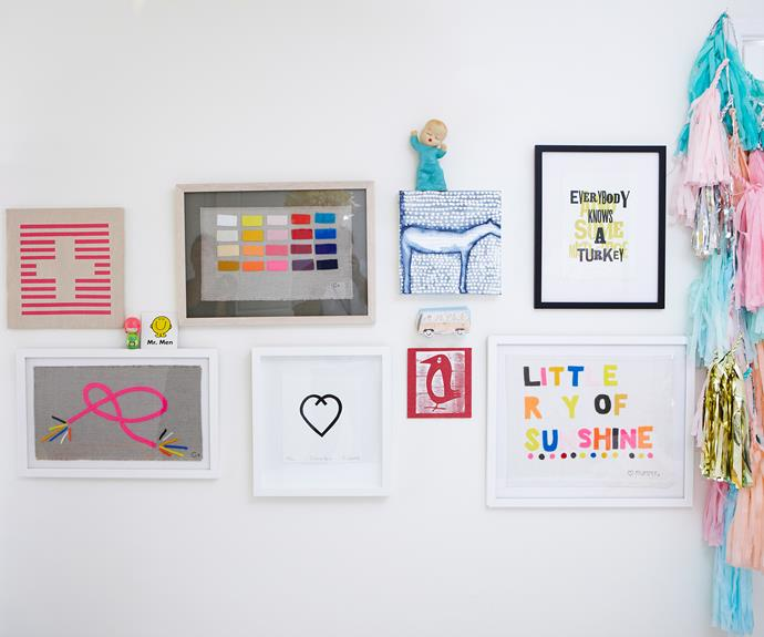 A 'gallery wall' is a great way to hang all your favourite pictures in one place. Photo: Paul Suesse / bauersyndication.com.au
