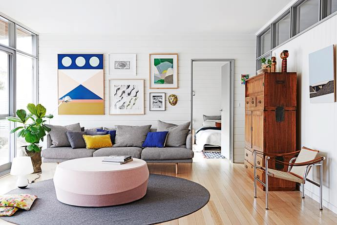 "The pink ottoman from [Cafe Culture + Insitu](http://cafecultureinsitu.com.au/?utm_campaign=supplier/|target=""_blank"") and Nook sofa from [Jardan](http://www.jardan.com.au/?utm_campaign=supplier/