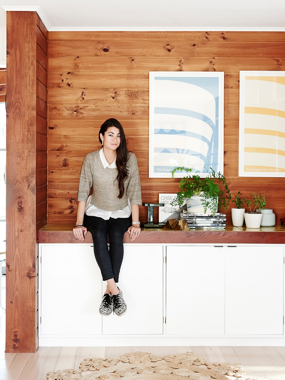 """This [1960s beach house](https://www.homestolove.com.au/gallery-nina-and-ryans-modernist-cottage-revamp-2221