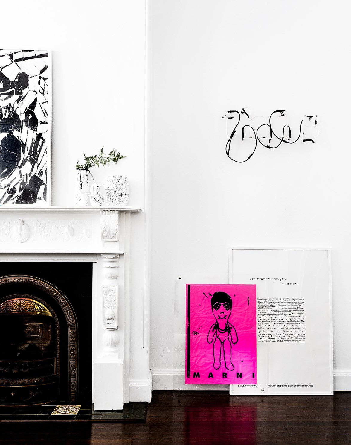 Fluorescent accents pop against a monochrome backdrop. Photo: Felix Forest / *real living*