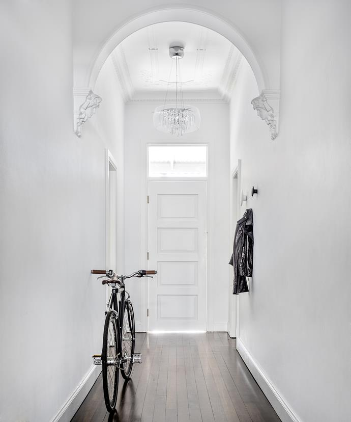 Although renovations have given the home a minimalist look, its ornate architectural features mean it also retains much of its original Victorian charm.