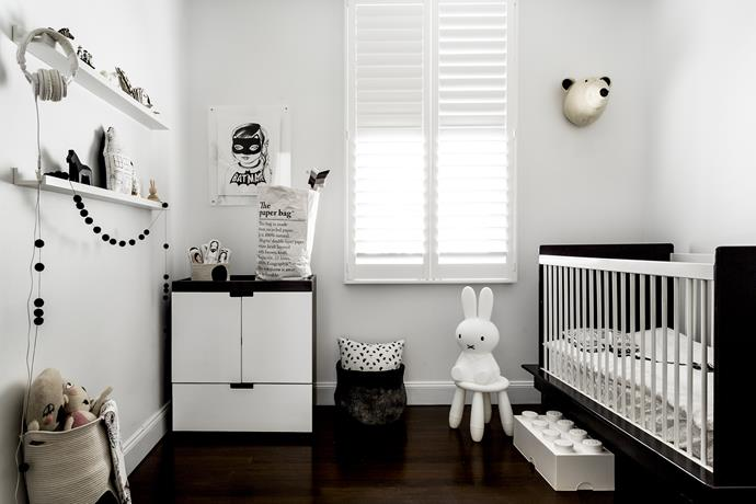 Nurseries needn't be colourful to be fun, as this chic yet playful baby's room reveals.
