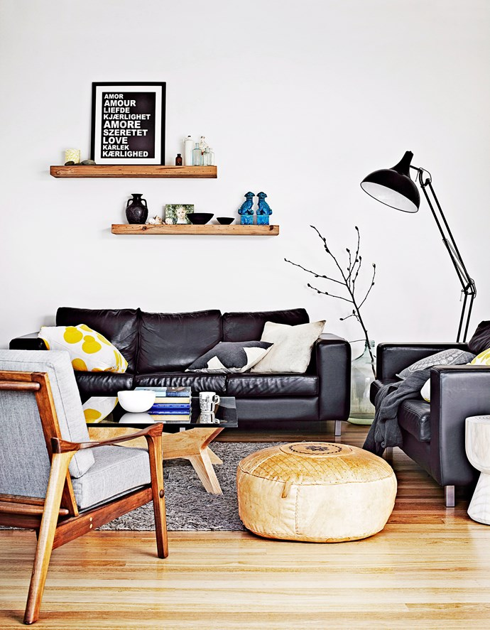 Contemporary does not mean cold. Add warmth and texture to a predominantly black and white scheme with soft timber tones. Photo: Sharyn Cairns / bauersyndication.com.au
