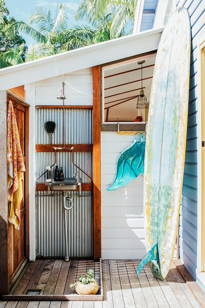 "The outdoor shower is my favourite,"" Chris says. ""It's 