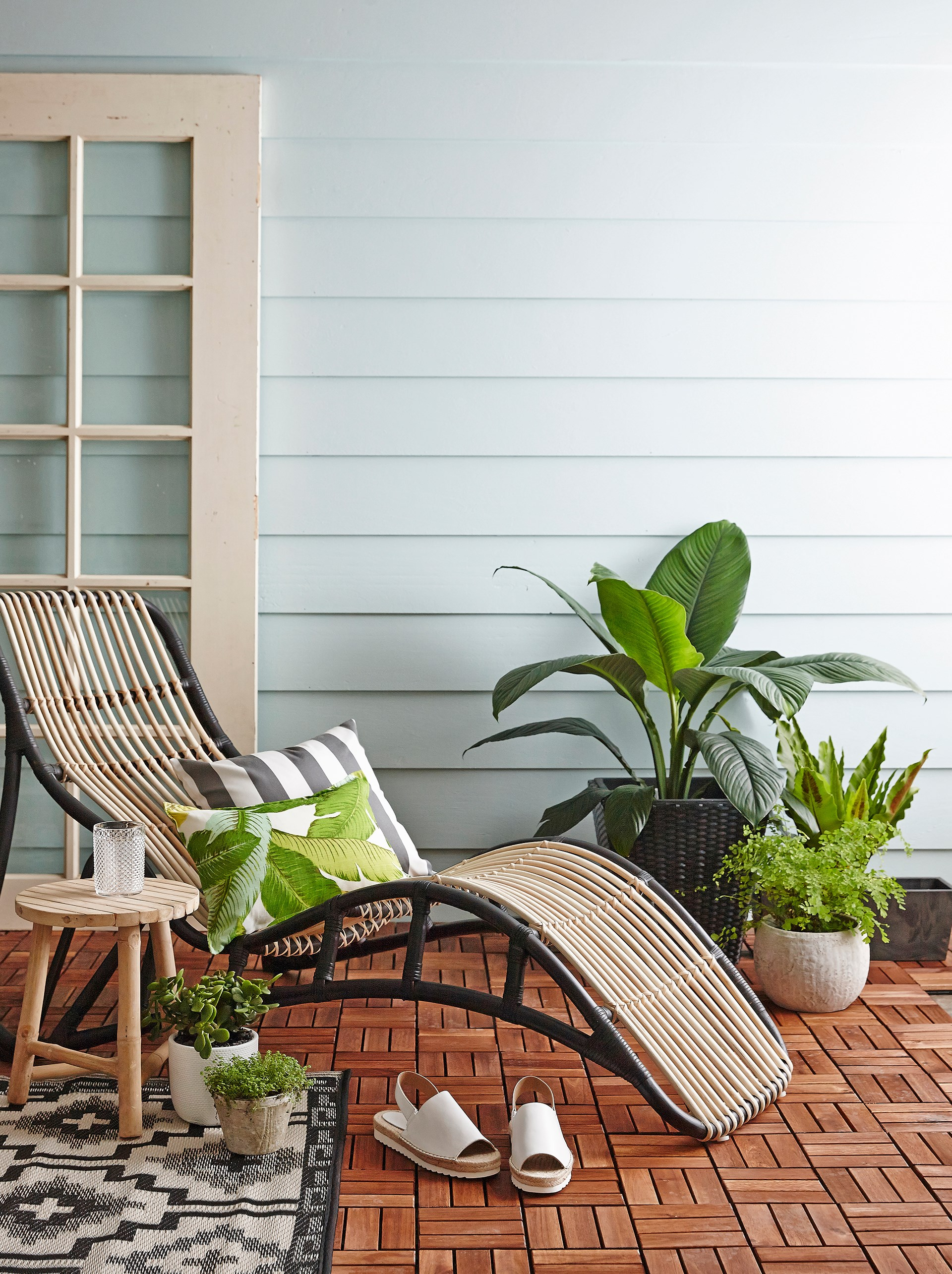 "A sun lounger creates a resort vibe without the hefty price tag. This Nipprig 2015 rattan lounger is from [Ikea](http://www.ikea.com/?utm_campaign=supplier/|target=""_blank""). See our pick of [garden and patio homewares](http://www.homestolove.com.au/gallery-spring-homewares-to-brighten-your-day-2285/?utm_campaign=supplier/