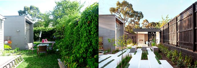 **Before and after:** From wasted space to stunning setting, the transformation of this L-shaped garden is dramatic.
