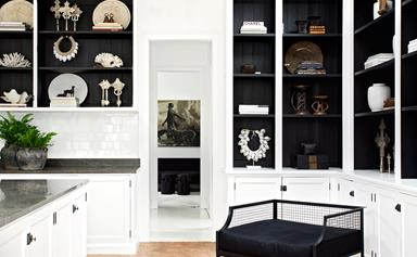 Striking black and white makeover of a Sydney cottage