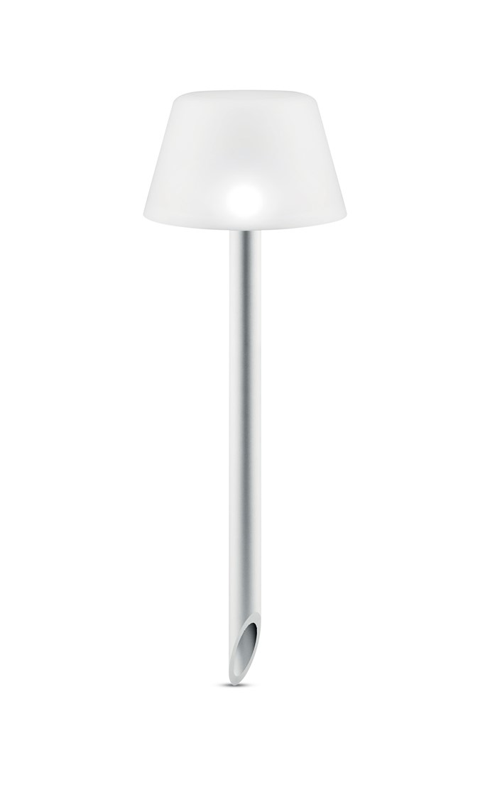 "Eva Solo SunLight frosted-glass and aluminim solar spike light, $99, [Top3 by Design](http://top3.com.au/?utm_campaign=supplier/|target=""_blank"")."