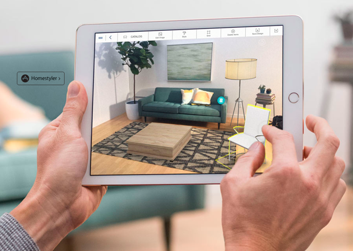 Autodesk Home Styler lets you drop high quality 3D models of real products into a photograph of your space.