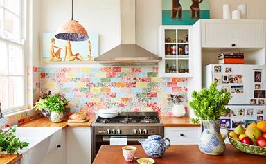 Ceramic artist Samantha Robinson's patchwork kitchen