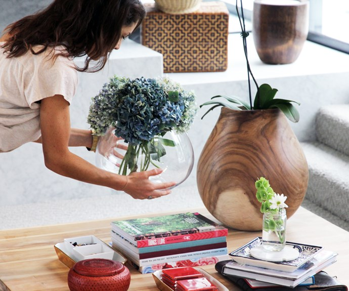 Vases on a coffee table