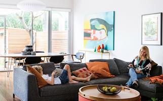 Open plan living room in Bondi