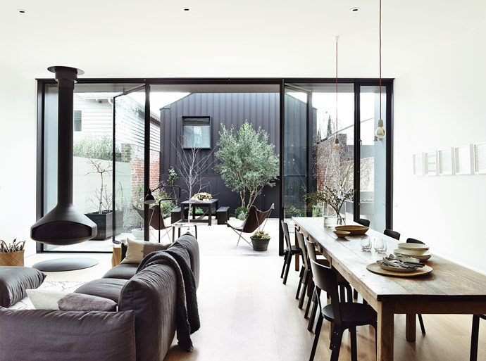 """In building their extension, Annick and Stephen took every opportunity to bring the outside in. """"The dialogue between architecture and nature has always been a key interest of our practice,"""" says Annick."""