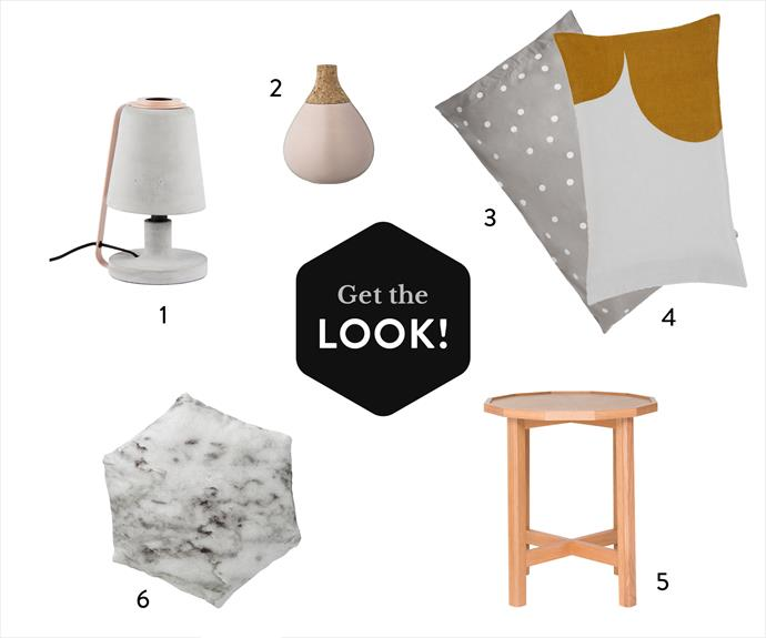"""**Sweet escape**  **1.** The Oliver concrete **table lamp** in Blush Pink, $249, from [Urban Couture](https://www.urbancouture.com.au/?utm_campaign=supplier/