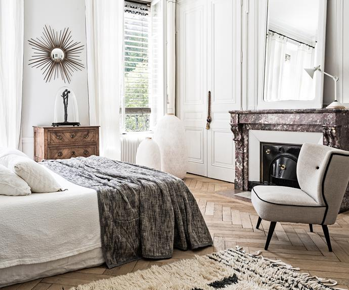 Contemporary French master bedroom
