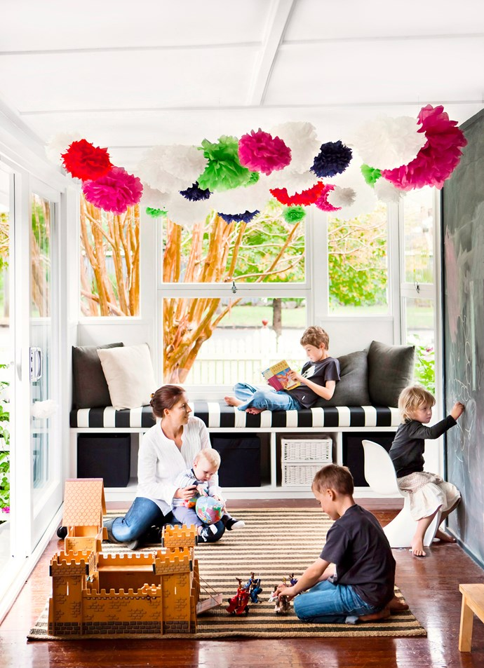 """A well-resolved family room will appeal to everyone. Toowoomba-based interior designer [Natalie Brownlie](http://www.tarliebdesigns.com.au/?utm_campaign=supplier/