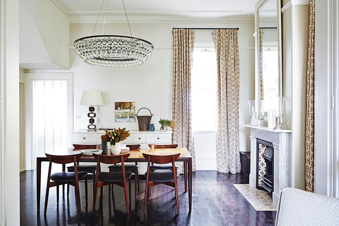 "Sarah fell in love with an image of the Arctic Pear chandelier, finally tracking it down at UK retailer [Ochre](http://www.ochre.net/?utm_campaign=supplier/|target=""_blank"") after six months of solid searching. **Table lamp** from [Cameron Kimber Design](http://www.cameronkimber.com/?utm_campaign=supplier/