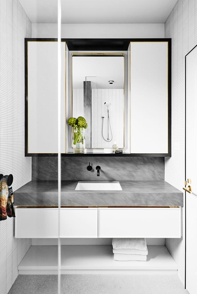 "Matte-finish black tapware is a bold punctuation point in this luminous bathroom by [Flack Studio](http://flackstudio.com.au/?utm_campaign=supplier/|target=""_blank""). Photo: Brooke Holm."