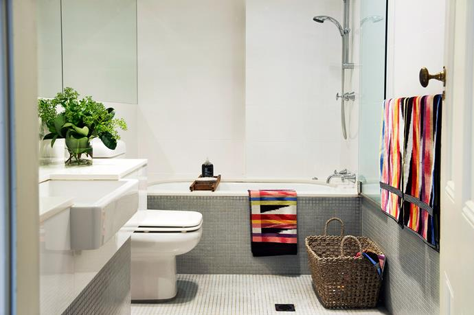 This is a classic two-in-one bathroom layout, with the shower over the bath. Photo: Brigid Arnott / bauersyndication.com.au