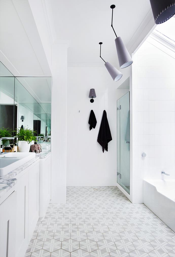 Every room in the house – including the bathroom – is bright and spacious, which was a major drawcard for Camilla.