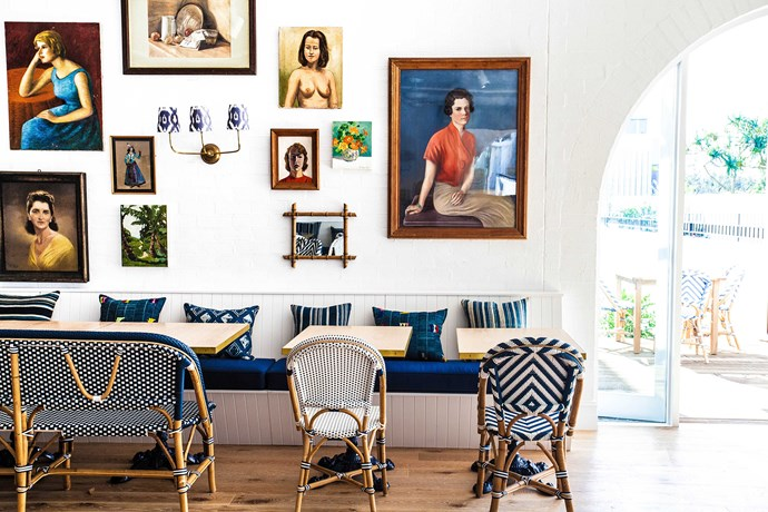 Halycon House features a 'curated' collection of antiques, furniture and art chosen by the hotel's owners and designer Anna Spiro.