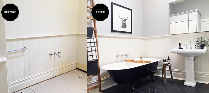 The new bathroom is the perfect blend of contemporary comfort and a period aesthetic.
