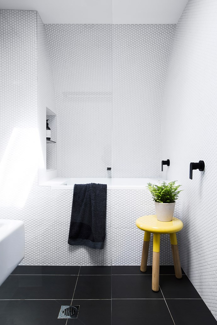 """Alex asked us to infuse her space with a calming dynamism in which she could rest, reinvigorate, function and flourish,"" says Bronwyn.  **Stool** from [Complete Pad](http://www.completepad.com.au/?utm_campaign=supplier/