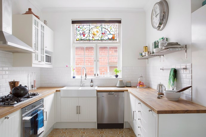 U-shaped kitchens are a cook's dream - but you have to watch the space between work zones. If they are too wide it can be frustrating. Photo: Angelita Bonetti