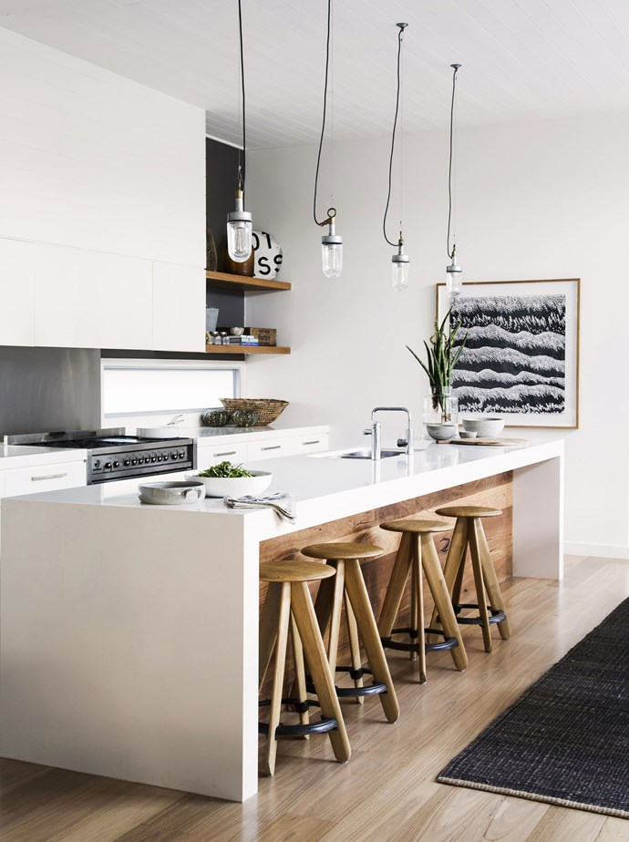 Island kitchens only work when you have a large area to work with. They are great for entertaining, allowing the person in the kitchen to remain part of the action. Photo: Maree Homer