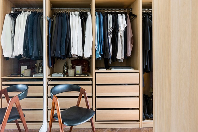 """The joinery in the walk-in wardrobe is from [Ikea](http://www.ikea.com/?utm_campaign=supplier/