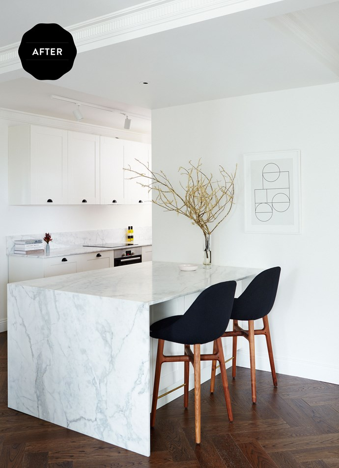 """And this is the kitchen now. Marble **benchtops** from [Gitani Stone](http://www.gitanistone.com.au/?utm_campaign=supplier/