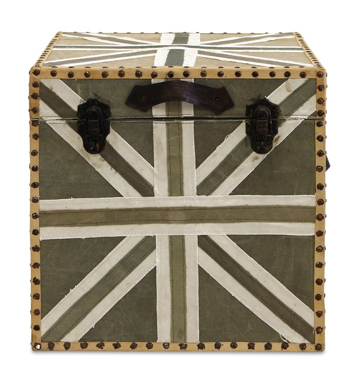 """**Trunks:** Repurposed Army MDF and canvas trunk, $275 from [Weylandts](http://www.weylandts.com.au/?utm_campaign=supplier/ target=""""_blank"""")."""