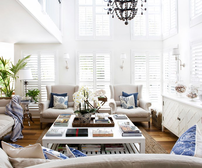 Hamptons style living room in Perth